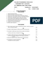 Assessment Question 1