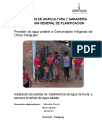 Proyecto Agua Potable Bajo Chaco 07 2014