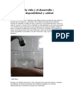 Agua Para La Vida y El Desarrollo