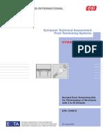 Dsi Dywidag Eta 13 0815 Post Tensioning System Using Strands En