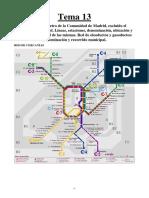 Tema 13. Red de Tren y Metro. Gaseoductos y Oleoductos.