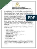 ACTA N° 1 Organo de Admón federacion Febrero 26 2019