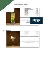 F&B Master Cocktails Recipe (Updated 5.2016