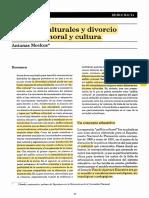 Culturales y  divorcio