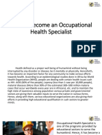Occupational Health Specialist