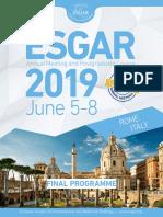 ESGAR19-FinalProgramme-WEB Readonly 31.05.2019 Coooop