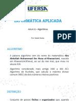 Aula 11 - Introdução Algoritmos