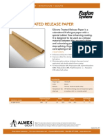 Silicone Treated Release Paper