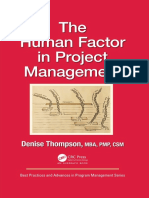 (Best practices and advances in program management series) Thompson, Denise - The human factor in project management-CRC Press (2019).pdf