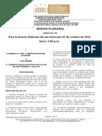 Plenaria-Orden del Dia-Debate Miercoles (03-10-2018).doc