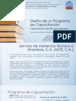 Diseño de Un Programa de Capacitación SATE, C.a.