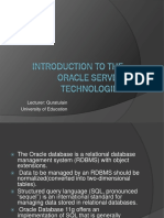 Introduction to database administration