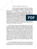 Federalism Position Paper