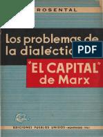 M M Rosenthal Los Problemas de La Dialectica en El Capital de Marx 1961