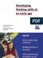 Developing Thinking Skills at an Early Age