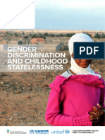 Gender Discrimination Childhood Statelessness Web