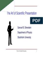 The Art of Scientific Presentation