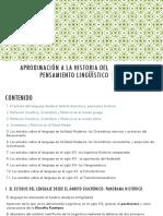 Resumen Historia de la Lingüística