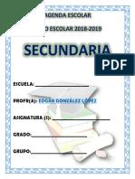 AGENDA 2018 -2019 escolar