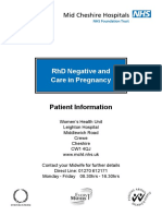 RhD Negative and Care in Pregnancy - Oct 2008