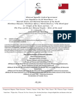 01 Cover Letter for Recording With County Declaration of Trust and Nationality Documentation