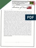 Declaration of Family Trust