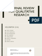 Journal Review for Qualitative Research1