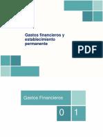 Gastos Financieros y Establecimiento Permanente - Walker Villanueva