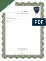 Child Abuse Prevention Course Certificate