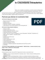 Restricciones de Crecimiento Intrauterino (RCIU)
