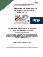 PROCESO CAS N° 011-UGEL -HUANCAVELICA