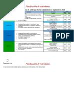 Planificación de Actividades IC Calderas H y C SEP18
