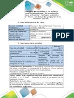 Guía de actividades y rúbrica de evaluación - Paso 1- Reconocer el nivel de apropiación de los conceptos iniciales