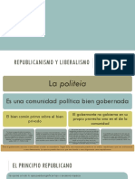 Republicanismo y Liberalismo (Totalización de La Política)