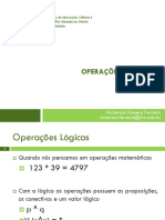 Aula 02 - Operacoes Logicas