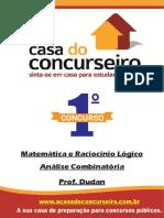 Analise Combinatoria Mpc Matematica e Raciocinio Logico