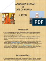 Kesavananda Bharati vs State of Kerla Ppt