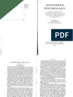 Avicenna - f. Rahman Trad. - Avicennas Psycology