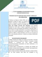 Edital Selecao Estagio SESAU 2019