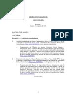 Orden del día de la Diputación Permanente