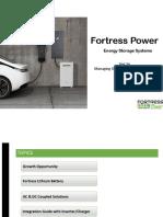 Fortress Power Energy Storage Presentation 2019