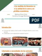 Impacto de las medidas de bienestar animal en la calidad de la carne