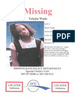 Missing Person - Valajia Wade