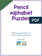 Pencil Alphabet Puzzles