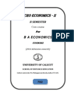 BA Economics - Micro Economics II (3)
