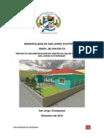 Perfil de Proyecto Centro de Salud Casco Urbano San Jorge Ocotepeque