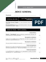 ÍNDICE - REVISTA ACTUALIDAD PENAL n.° 62