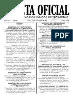 Gaceta Oficial 41700 Sumario