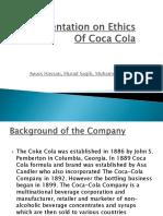 Presentation on Ethics of Coca Cola Slides