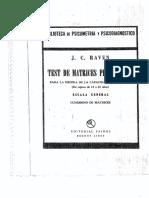 Test de Matrices Progresivas Para La Medida de La Capacidad Intelectual 18000